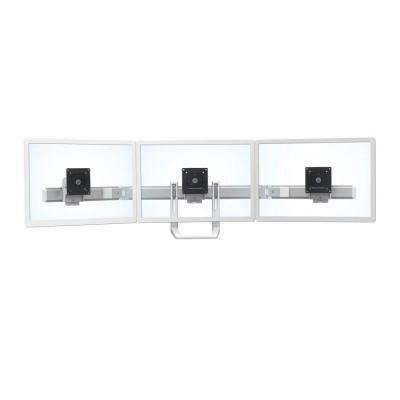 Asa HX para tres monitores (aluminio pulido)