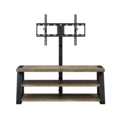 Mueble sala de madera con soporte para TV