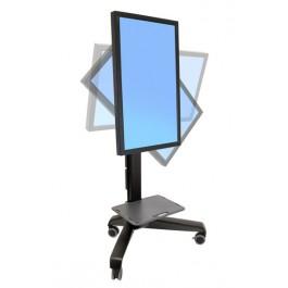 Pedestal para pantalla giratorio
