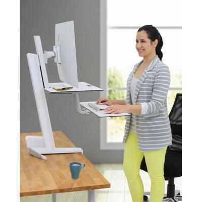 WorkFit-S, una pantalla LD con Superficie de trabajo (blanco)