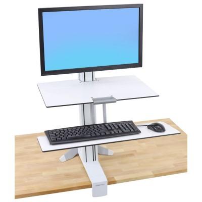 Ergotron WorkFit S, pantalla mediana con Superficie de trabajo (blanco)