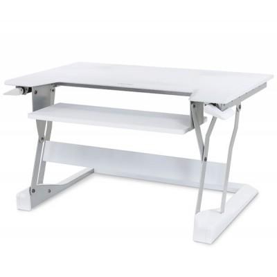 WorkFit T Estación de trabajo para escritorio de pie o sentado (blanco)