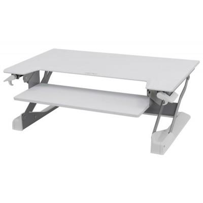 WorkFit-TL Estación de trabajo para escritorio de pie o sentado (blanco)