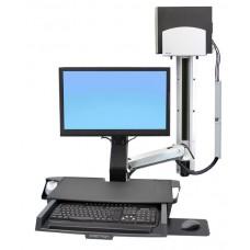 Estacion de trabajo con ergonomia de oficina