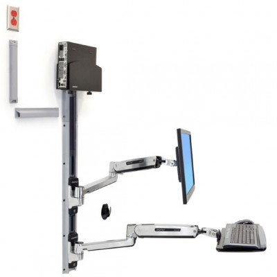 Sistema de montaje de pared para trabajar de pie o sentado LX
