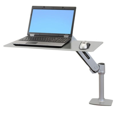 Estación para trabajar de pie/sentado WorkFit-P Platino 24-408-227Ergotron