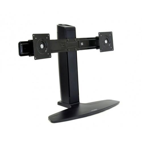 Soporte doble ergotron de mesa para dos monitores o tv for Soporte mesa tv samsung