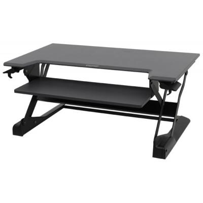 WorkFit-TL Estación de trabajo para escritorio de pie o sentado (negro)