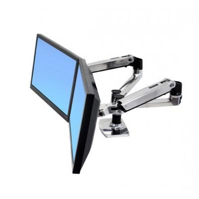45-245-026 Brazo LX doble de mesa lado a 2 monitores lateral