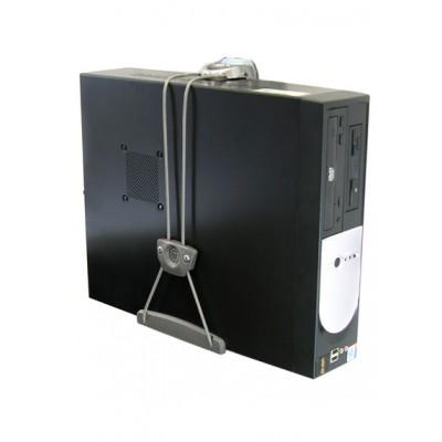 Soporte universal para CPU pared mesa tubo 80-105-064 vertical