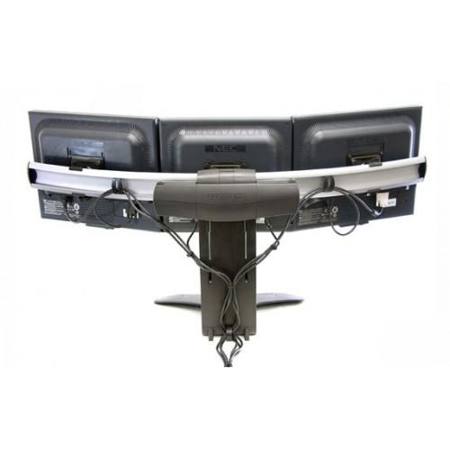 soporte 33 296 195 para 3 monitores 2 pantallas mesa escritorio. Black Bedroom Furniture Sets. Home Design Ideas