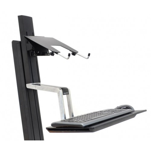 Base para laptop en una estación de trabajo para notebook