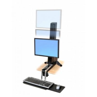 WorkFit S, una pantalla LD Soporte para trabajar sentado o de pie