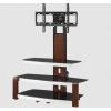 Mueble TV Stand acabado color madera soporte de pisoo color madera  Este elegante Stand gira 45 grados a cada lado, lo que permite ajustar el televisor para ver desde casi cualquier lugar de su habitación.  Modelo GENT1-STAND47  Para pantallas y Monitores de 32