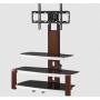 Mueble TV Stand acabado color madera soporte de piso
