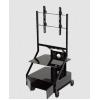 Soporte de piso para pantalla - Carro movil pedestal Tipo Carro  Ideal para comercios, oficinas y escuelas  Con ruedas, base de multifunción y loker para equipo multimedia  Modelo T1-ST32  Para pantallas y Monitores de 37
