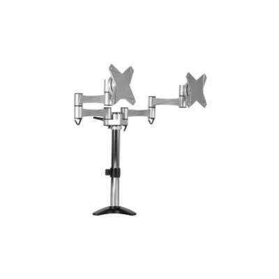 GEN-ESTSTV-210 Soporte doble de escritorio o mesa para 2 pantallas hasta 23 pulgadas