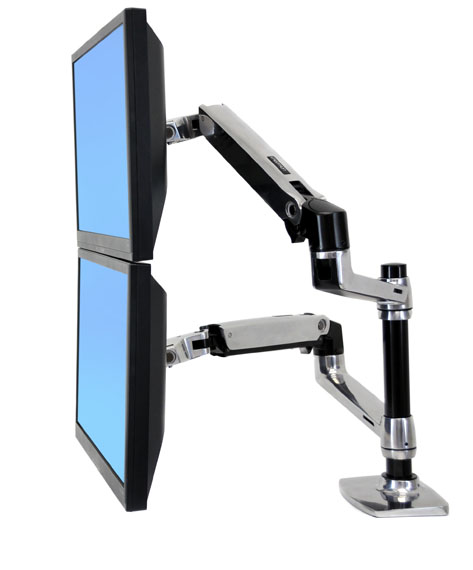 Brazo de mesa lx dual para monitor articulado
