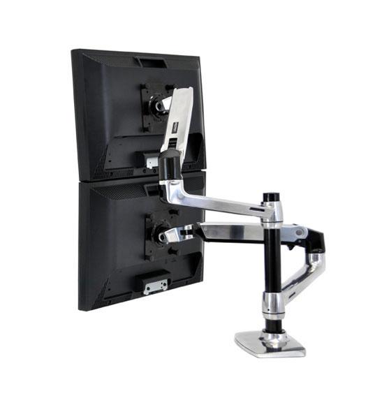 ergotron brazo de mesa lx dual para monitor articulado