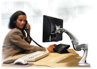 Neoflex Ergotron en escritorio o mesa - Brazo