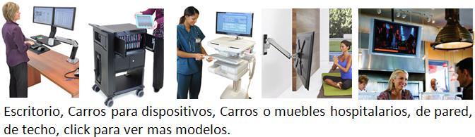 soportes-de-pared-de techo-escritorio-hospitalario-pedestal-carros-ipad