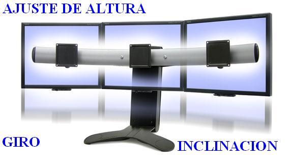 Soporte para 3 monitores LCD LED pantallas