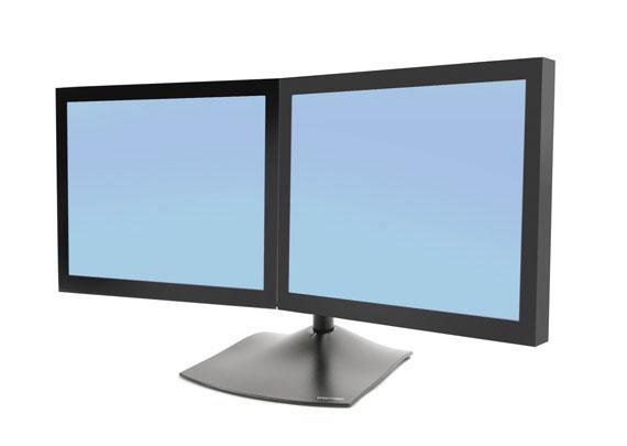 Soportes para dos 2 monitores dobles escritorio o mesa for Soporte monitor mesa