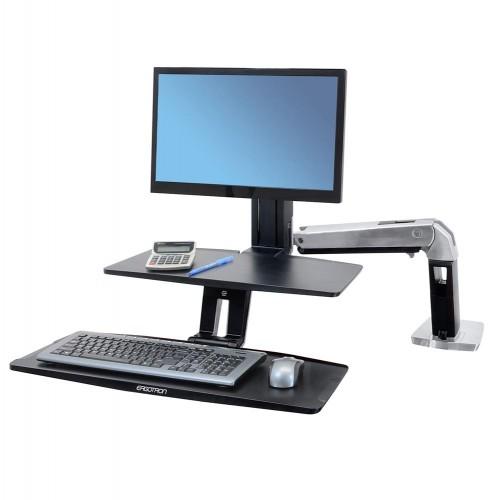 WorkFit-A con teclado suspendido una pantalla LD