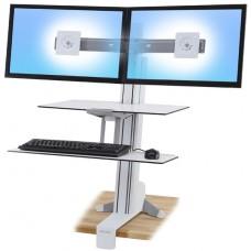 WorkFit-S, Dual con Superficie de trabajo (blanco)