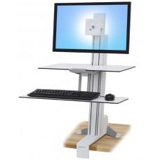 WorkFit-S, pantalla mediana HD con Superficie de trabajo (blanco)