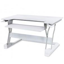 WorkFit-T, sentado y de pie de estación de trabajo de sobremesa (blanco)