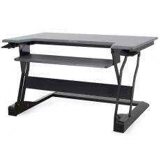 WorkFit-T, sentado y de pie de estación de trabajo de escritorio (negro)