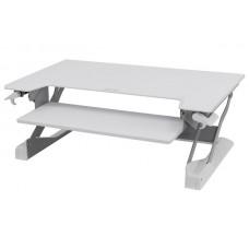 WorkFit-TL, sentado y de pie de estación de trabajo de sobremesa (blanco)