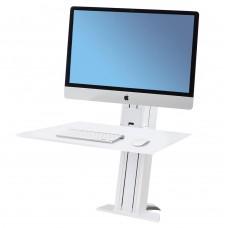 WorkFit-SR, monitor pesado, estación de trabajo para escritorio para trabajar de pie o sentado