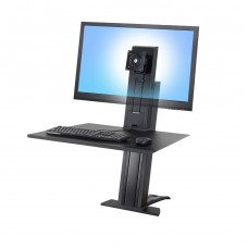WorkFit-SR, monitor pesado, estación de trabajo para escritorio para trabajar de pie o sentado 33-416-085