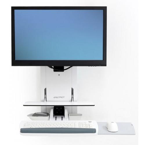 Trabajar sentado o de pie Soporte de elevación vertical StyleView salas de pacientes (blanco)