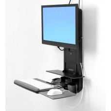 Trabajar sentado o de pie Soporte de elevación vertical StyleView® salas de pacientes (negro)