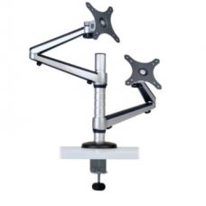 "Soporte doble de escritorio de brazo flexible de movimiento completo para monitores de 13"" a 27"" DDR1327DCS"