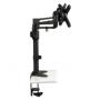 """Soporte doble de escritorio de brazo flexible de movimiento completo para monitores de 13"""" a 27"""" DDR1327SDFC-DDR1327SDFC"""