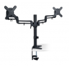 """Soporte doble de escritorio de brazo flexible de movimiento completo para monitores de 13"""" a 27"""" DDR1327SDFC"""
