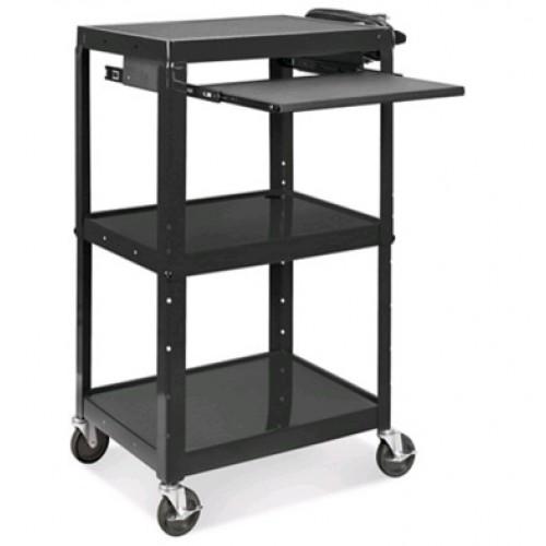 Carro m vil para computadora con bandejas portatil pc for Carritos con ruedas para cocina