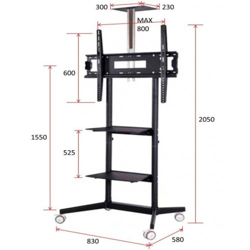 Soporte para videoconferencias 42 80 metalico ruedas - Medidas de monitores para pc ...
