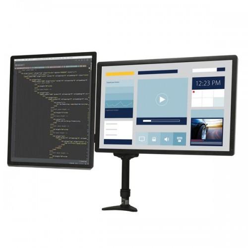 Brazo doble monitor - pantalla en vertical o en horizontal