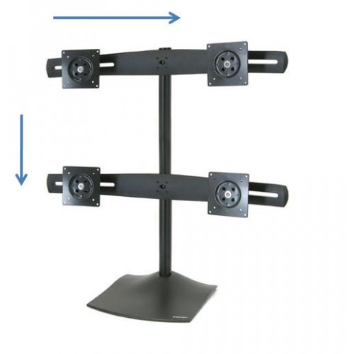 Soporte para 4 monitores pantallas LED LCD ds100