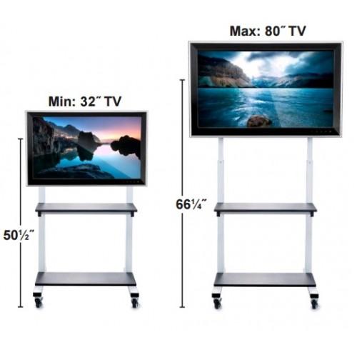Soporte de piso para pantallas de TV Grandes - ruedas