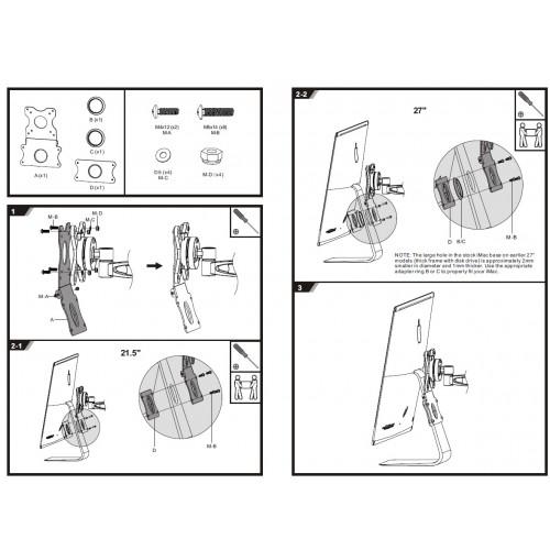 Adaptador para soporte de imac - compatible escritorio-pared VESA 24 27