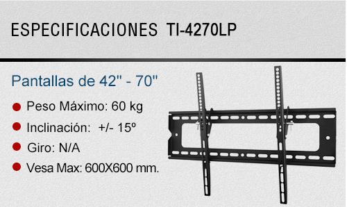 soporte tv fijo con tilt