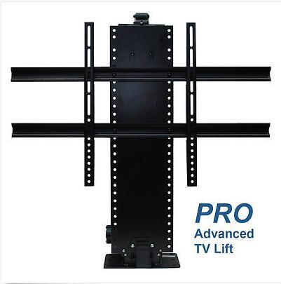Base motorizada para elevar una TV automaticamente a control remoto